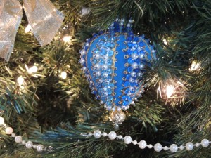 An ornament made by my hubby and his mom when he was younger.