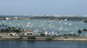 Boats near the port of Miami