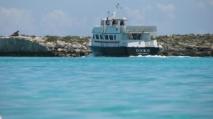 Tender in Half Moon Cay