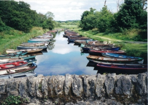 Boats in a row, Killarney, Ireland