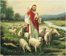 Jesus and sheep