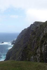 Sunny cliffside