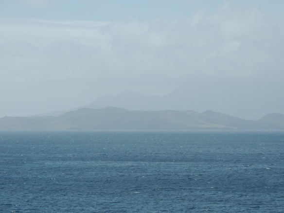 Aquamarine of St. Kitts looking off towards Nevis