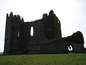 Sunny day Ballycarberry castle ruin