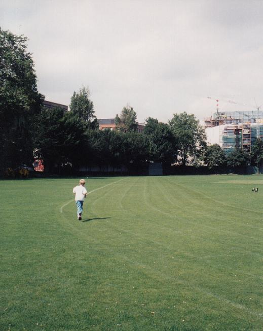 Running on a field at Trinity College