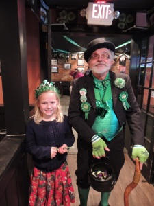 Amy found a giant leprechaun wandering about the place.  ;)