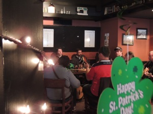 Irish traditional music session at McMahon's