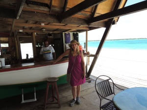Me posing in Anguilla while Rose is busy getting ready for her full day at the Dune Preserve.