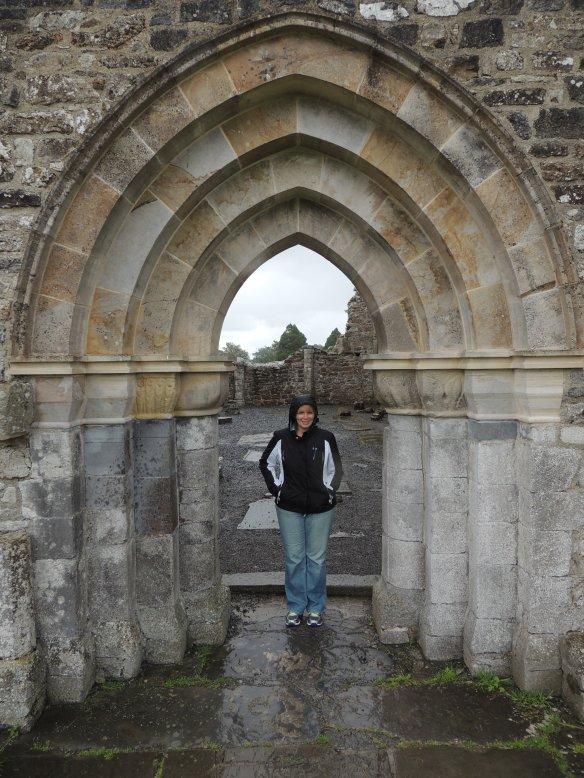A rainy day at Clonmacnoise; no crowds, just stillness.